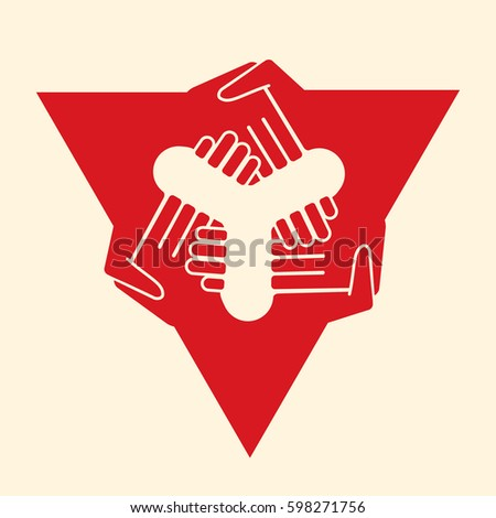 Multilateral Agreement Handshake Stock Vector Royalty Free
