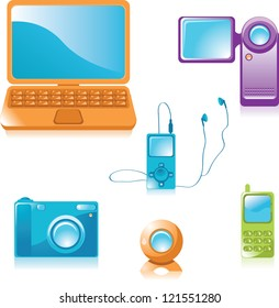 Multimedia equipment icons