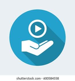 Multimedia playlist - Minimal icon