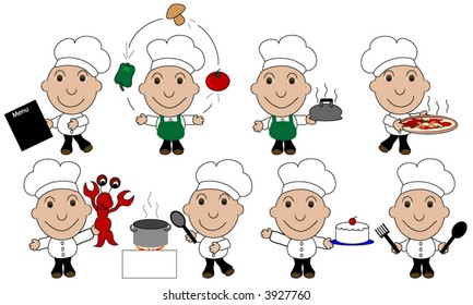 Multiple cook and chief clip-art.