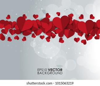 Multiple Hearts Vector Background Eps 10