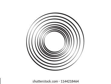 Multiple Illusionary Rings. Editable Clip Art.