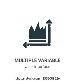 Multiple variable points line chart vector icon on white background. Flat vector multiple variable points line chart icon symbol sign from modern user interface collection for mobile concept and web