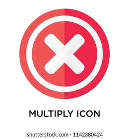 Multiply icon vector isolated on white background for your web and mobile app design, Multiply logo concept