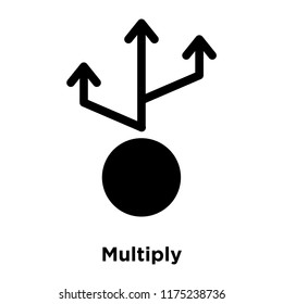 Multiply icon vector isolated on white background, logo concept of Multiply sign on transparent background, filled black symbol