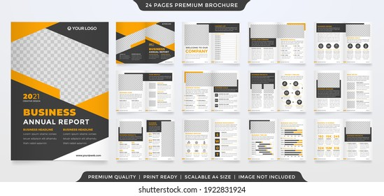 multipurpose bifold brochure template design with modern style and clean layout use for business presentation and proposal