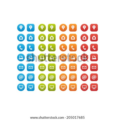 Multipurpose Business Card Icon Set Web Stock Vector Royalty Free