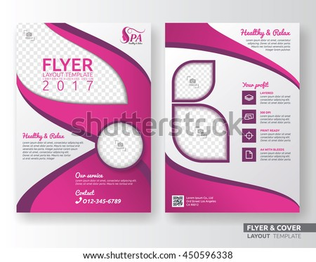multipurpose corporate business flyer layout design stock vector