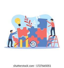 Multipurpose modern flat illustration design business concept suitable for your landing pages, website, presentation, mobile apps, etc