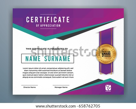 multipurpose modern professional certificate template design の