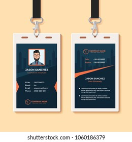 Multipurpose Office ID Card Design Template
