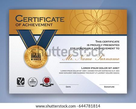 Multipurpose Professional Certificate Template Design Print Stock