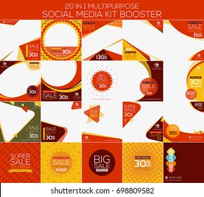 Multipurpose social media kit booster. Alternate design is available for your need, suitable for your promotion
