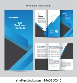 Multipurpose Trifold Brochure Templates, Vector design