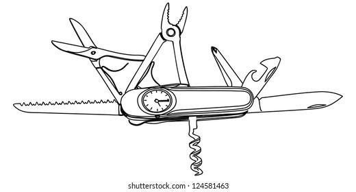 multipurpose vector illustration of knife