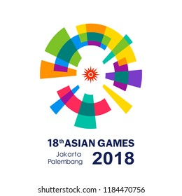 Multi-sport event scheduled Asian Games 2018 Icon. Vector illustration.