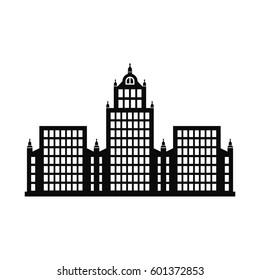 multi-storey public building icon vector
