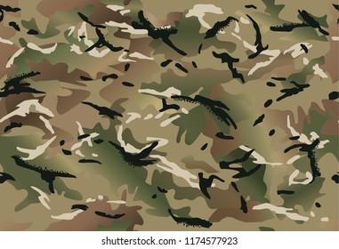 Multi-terrain (multicam) camouflage seamless pattern.