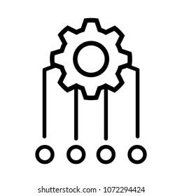 Multithreading icon, vector illustration