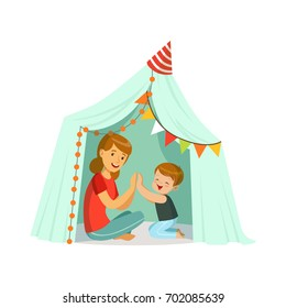 Indian Family Playing Games Stock Illustrations, Images