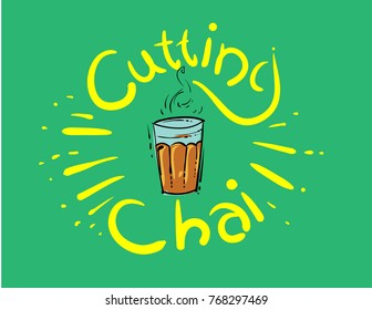 mumbai cutting chai illustration