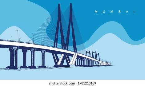 Mumbai Sea Link Skyline Bombay