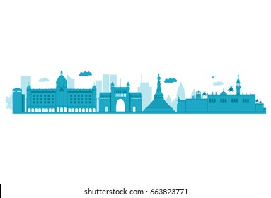 Mumbai Skyline. Vector Illustration. Highly Detailed Vector.