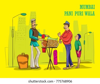 mumbai wala illustration vector