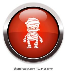 mummy isolated vector icon