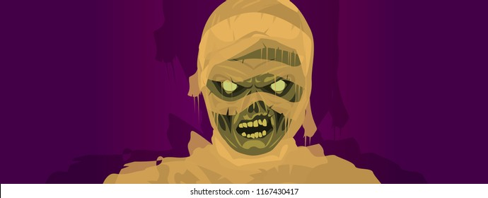 mummy zombie Halloween costume mask
