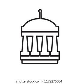 municipal icon, isolated on white background,flat vector illustration can be used for web, mobile and print
