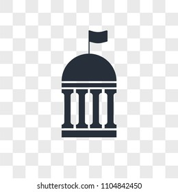 municipal vector icon isolated on transparent background, municipal logo concept