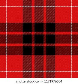 Munro Tartan pattern. Scottish cage. Scottish checkered background. Traditional scottish ornament. Scottish plaid in classic colors. Seamless fabric texture. Vector illustration