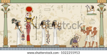 Murals with ancient egypt