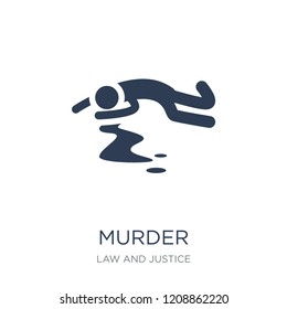 murder icon. Trendy flat vector murder icon on white background from law and justice collection, vector illustration can be use for web and mobile, eps10
