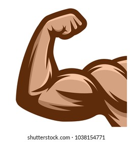 Muscle arms. Strong bicep icon