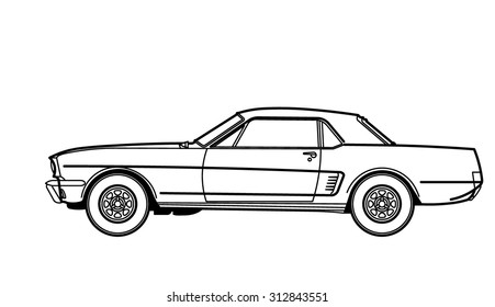 Car Drawing Images, Stock Photos & Vectors | Shutterstock