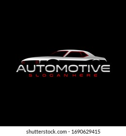 muscle car logo, Perfect logo for business related to automotive industry
