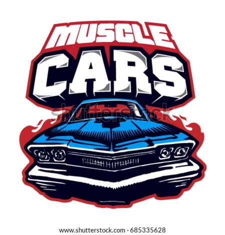 Muscle Car Logo Vector Isolated Stock Vector Royalty Free