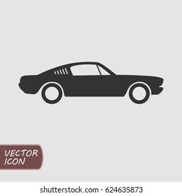 Muscle car vector icon
