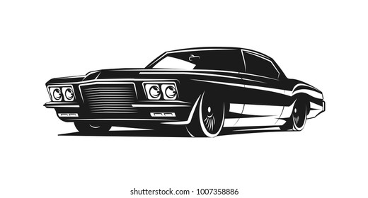 Muscle car vector poster