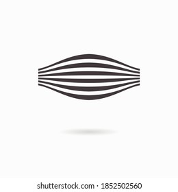 Muscle fiber icon. Logo design template. Vector illustration isolated on white.