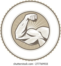 Muscle Flex Label