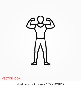 Muscle icon logo, illustration, vector sign symbol for design