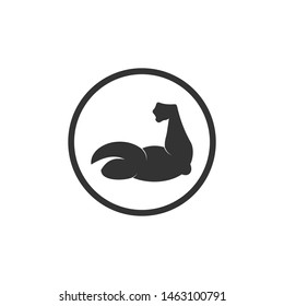 Muscle icon template color editable. Muscle symbol vector sign isolated on white background. Simple logo vector illustration for graphic and web design.
