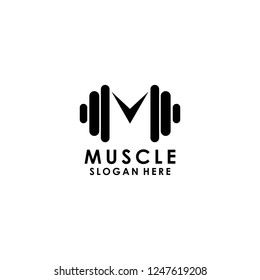 muscle logo template