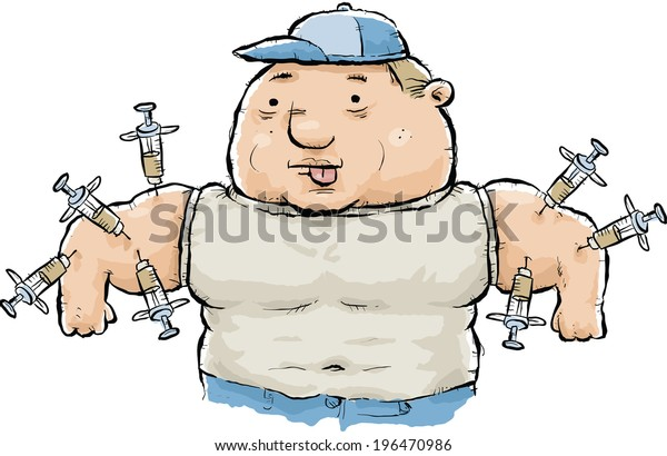 Image result for steroid needle cartoon