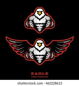 Muscular eagle logo template.