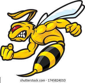muscular fierce bees for esport logo