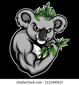 Musculars Koalas Vector